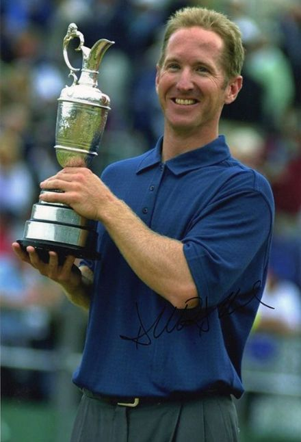 David Duval, Open Championship 2001 Royal Lytham, signed 12x8 inch photo.